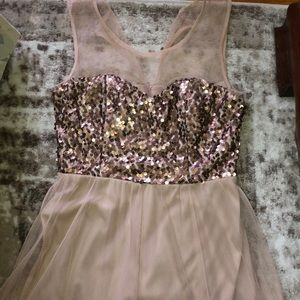 Tan and brown dress with sparkles!